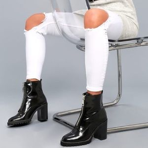 Chinese Laundry Patent Leather Booties
